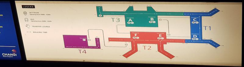 mappa dell'aeroporto di Singapore