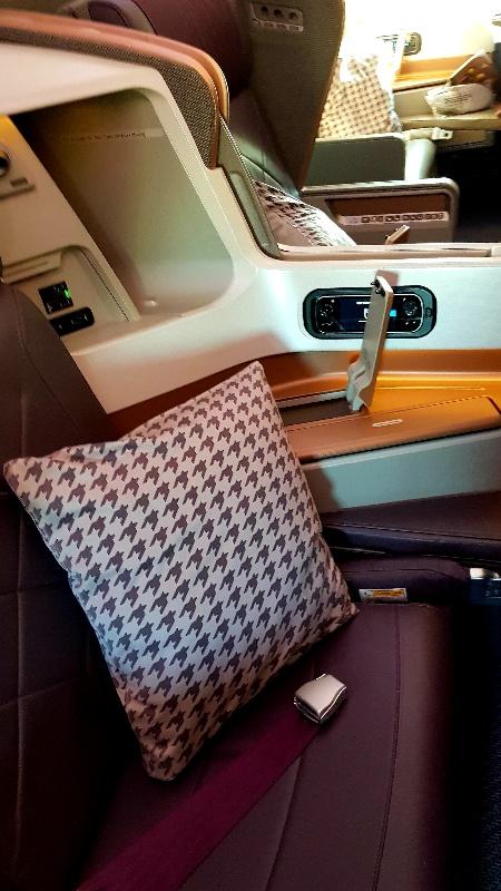 sedile di business class con cuscino