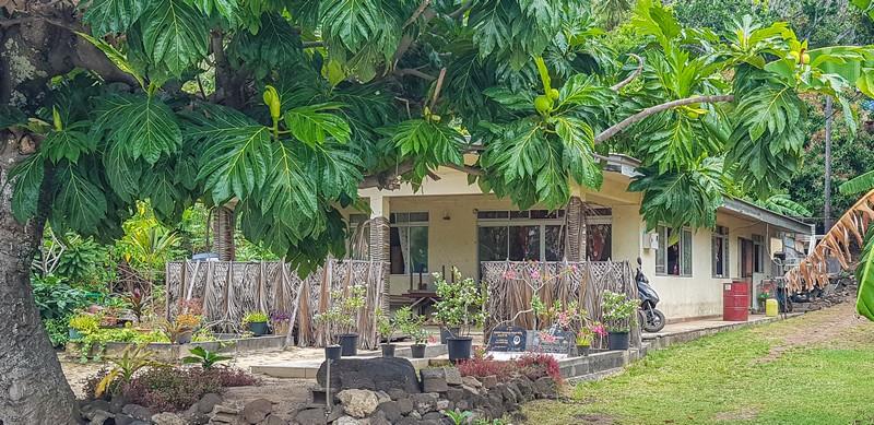 casa con tomba nel giardino