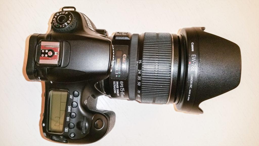 vista dall'alto di una reflex Canon 60D
