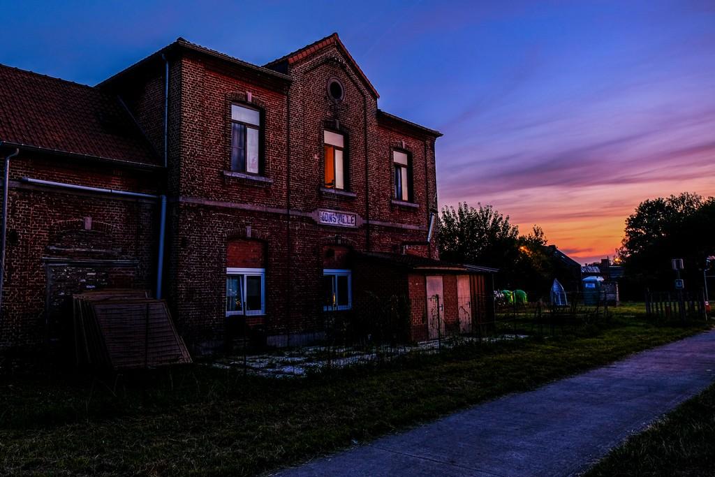 Un'antica stazione della ferrovia del carbone sul RAVEL
