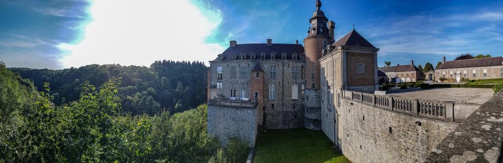 vista laterale castello e giardino