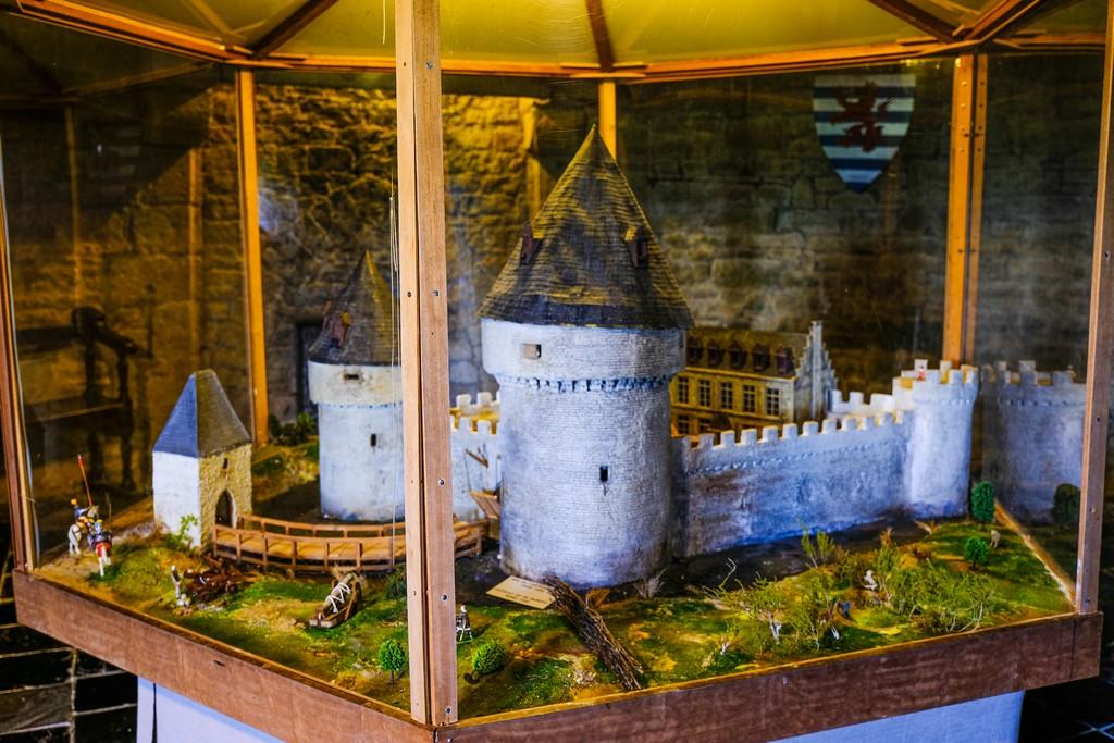 Riproduzione del castello custodita nella Torre
