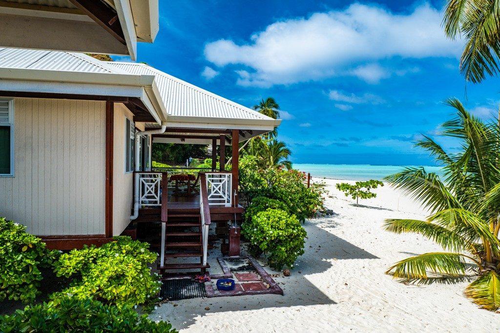 La spiaggia di Tereia e il bungalow di Maupiti Residence