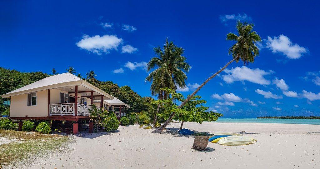 bungalow con spiaggia di fronte