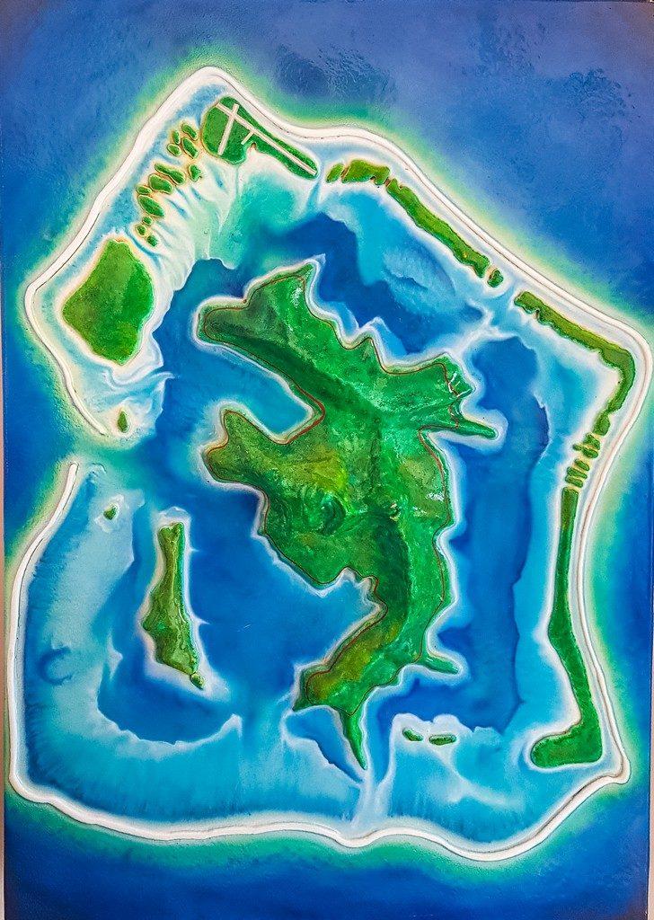 plastico come riproduzione dell'isola