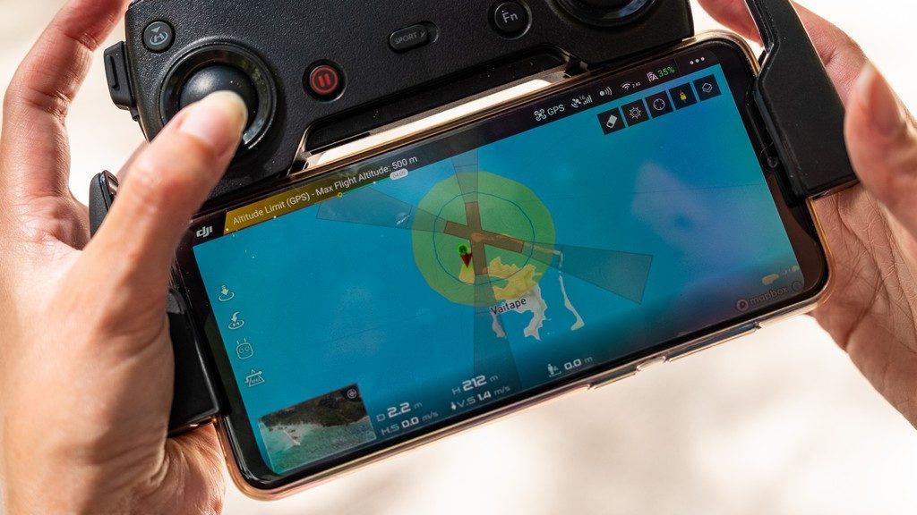 mappa dell'isola per drone