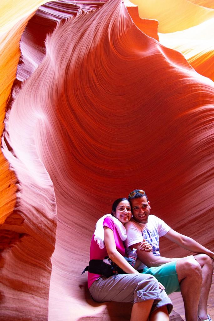 coppia in un canyon
