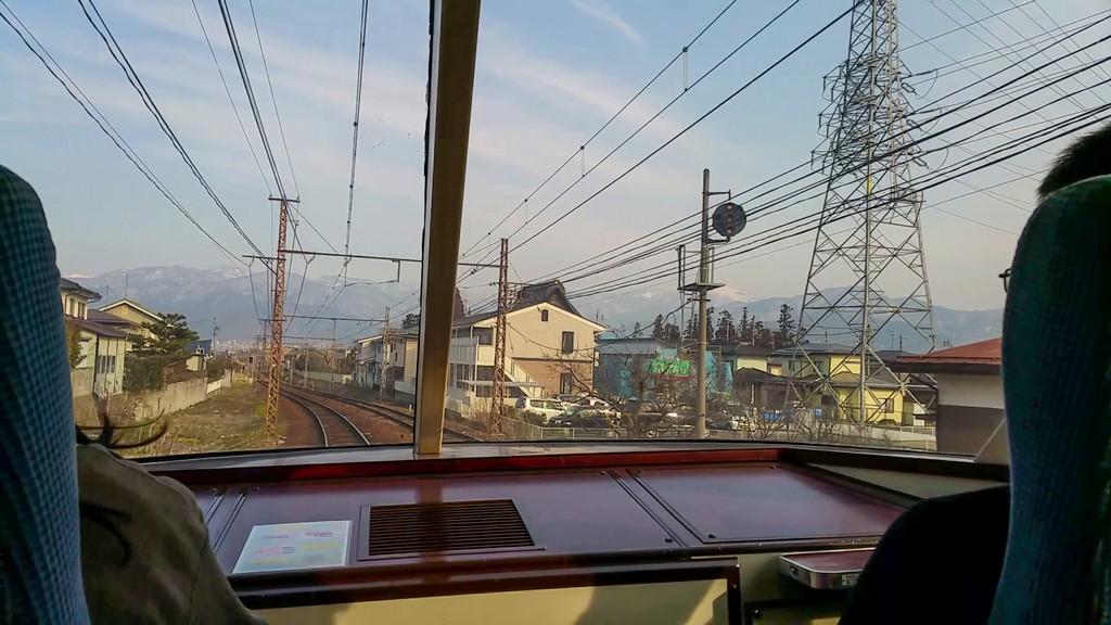 vista della ferrovia dall'interno del treno