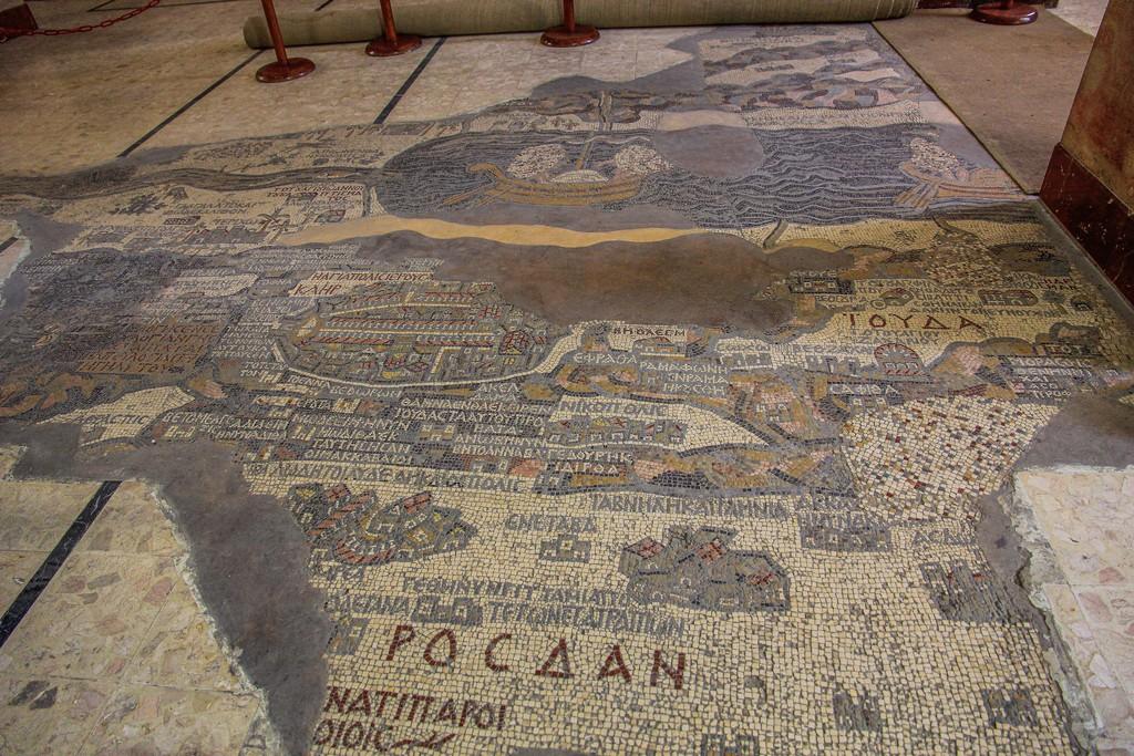 mosaico visto a pavimento