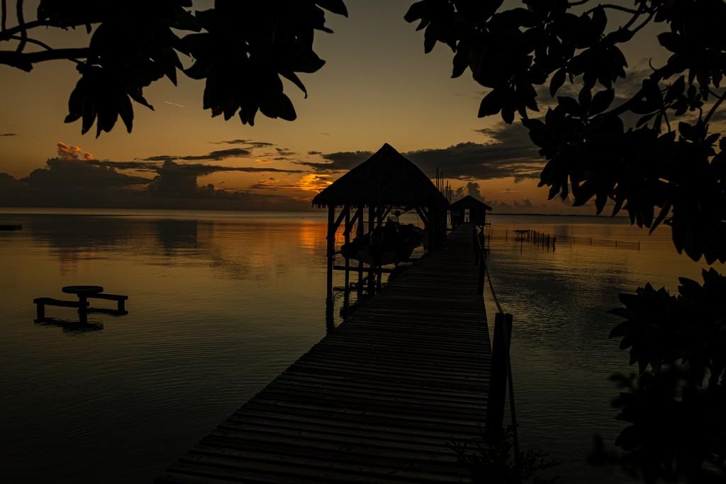 tramonto su pontile
