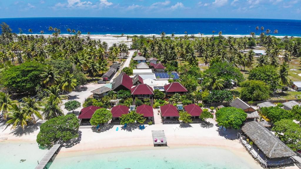 vista aerea del resort coi bungalow