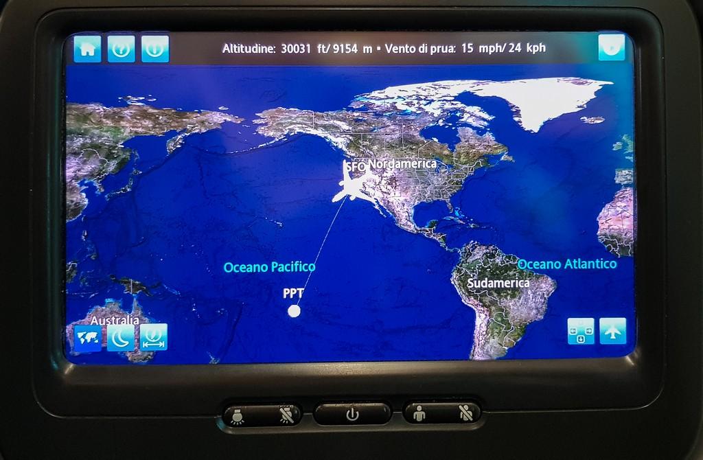 vista di uno schermo con mappa