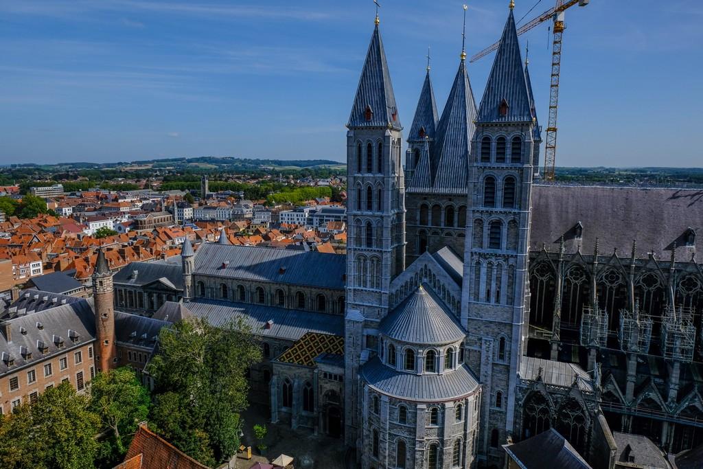 La cattedrale vista dall'alto del Beffroi