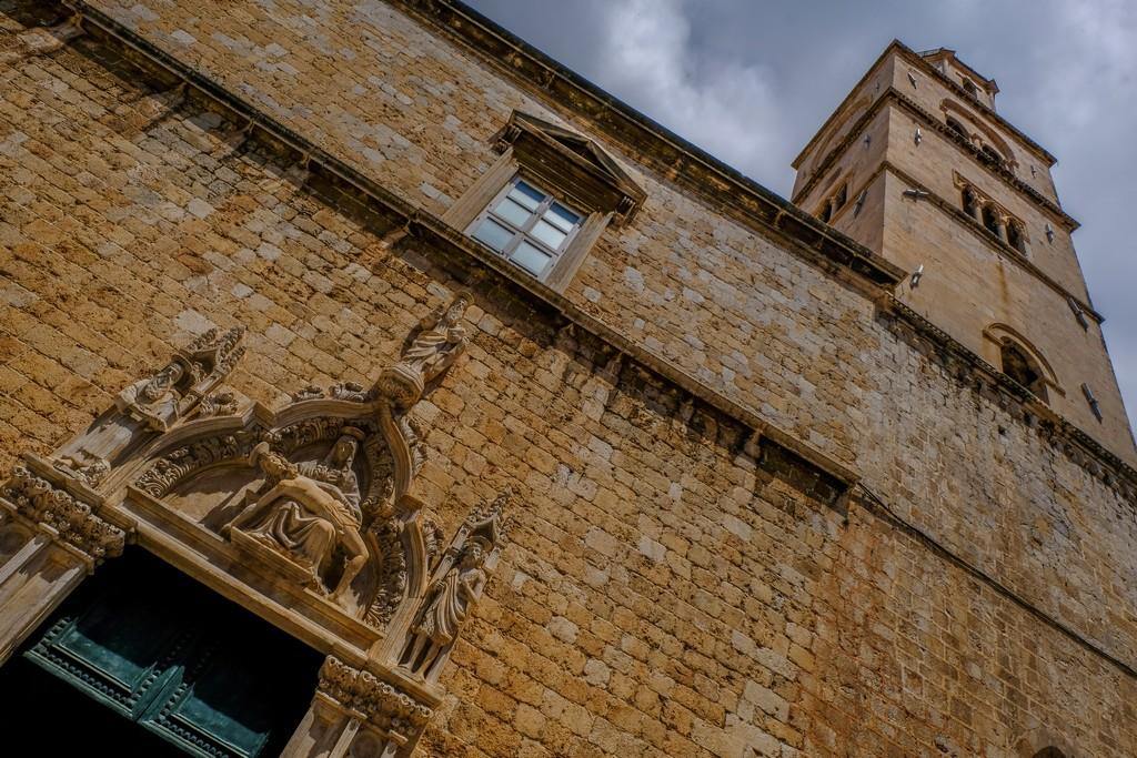 Facciata del Convento che si affaccia sullo Stradun