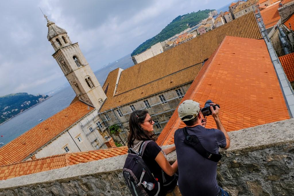 Il Monastero dei Domenicani visto dall'alto delle mura cittadine