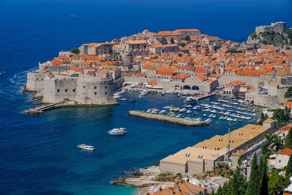 Vista di Dubrovnik da Ul. Bruna Busica