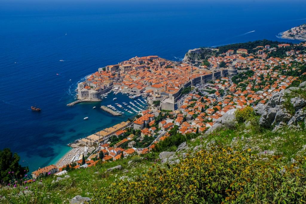 Cosa vedere a Dubrovnik Vista di Dubrovnik dal Monte Srd
