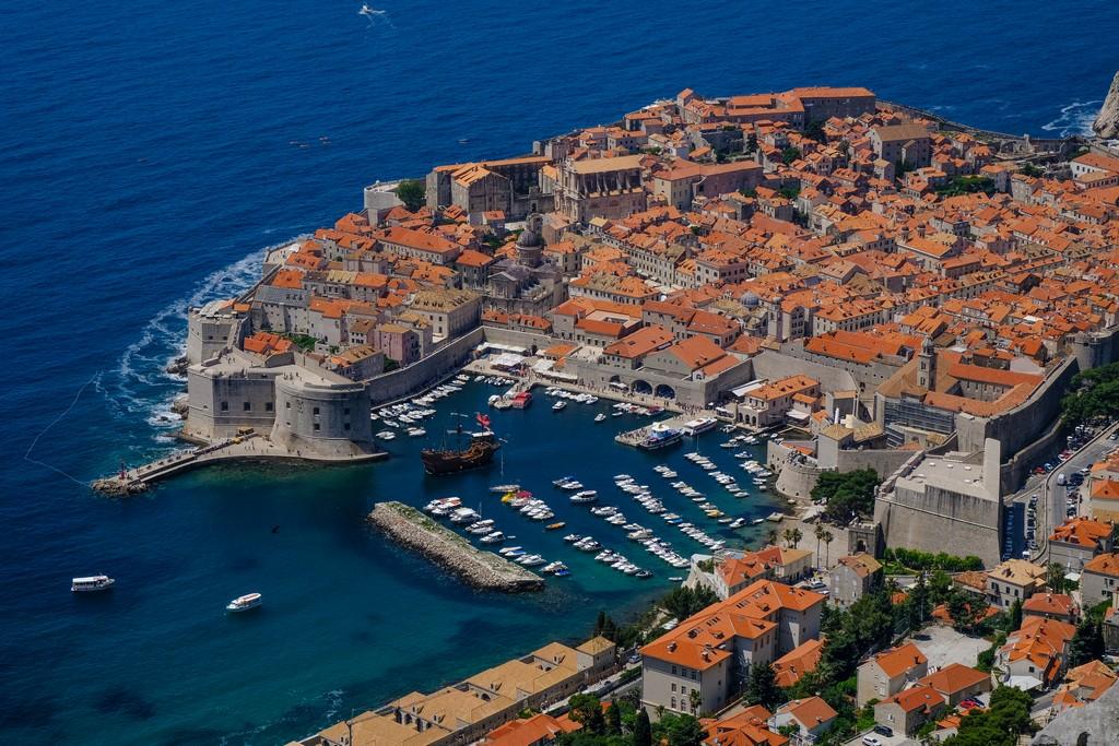 Vista di Dubrovnik dal Monte Srd, prima della funivia