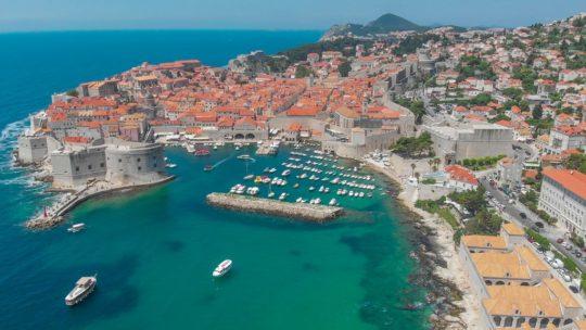 cosa vedere a Dubrovnik vista aerea delle mura