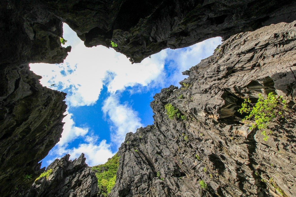 rocce a strapiombo con forma