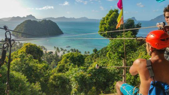 zip line con vista su isola