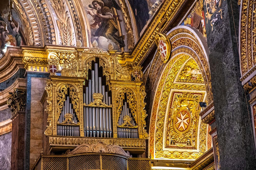 Guida alla Co-Cattedrale di San Giovanni organo della cattedrale