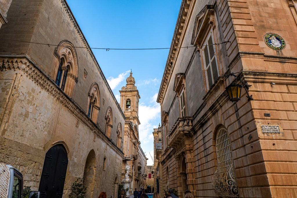 Visita a Mdina vicoli di Mdina