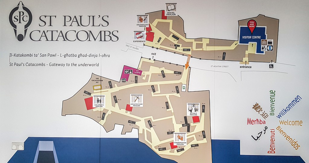 mappa catacombe