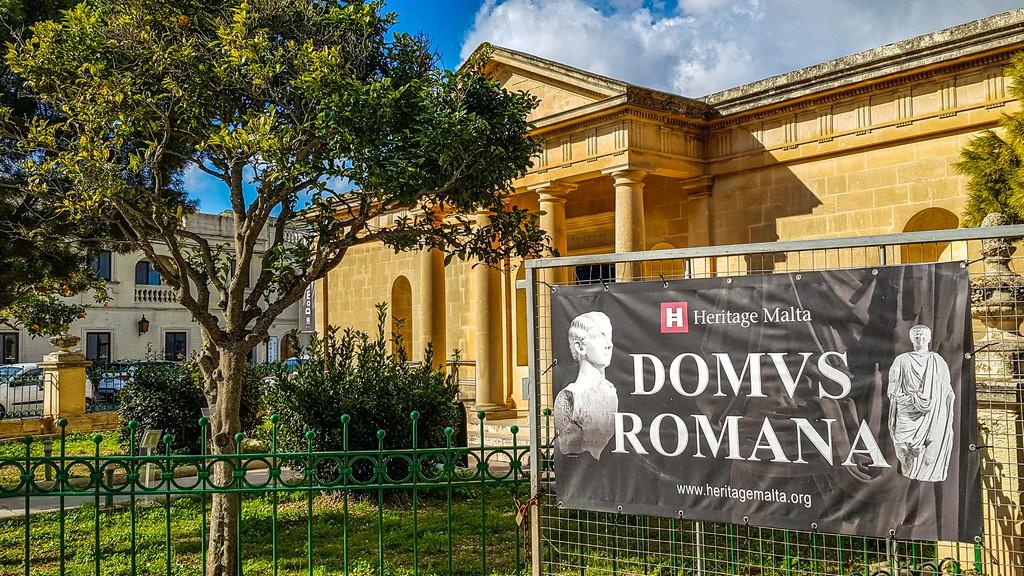 Visita a Mdina facciata della domus romana