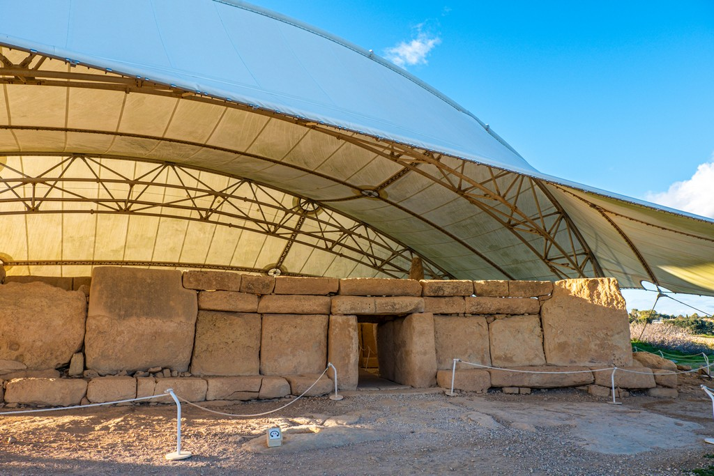 i templi megalitici di Malta tempio sotto tensostruttura