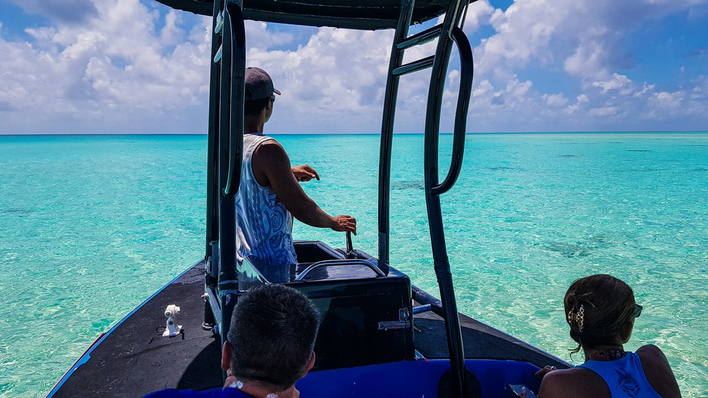 in barca sulla laguna