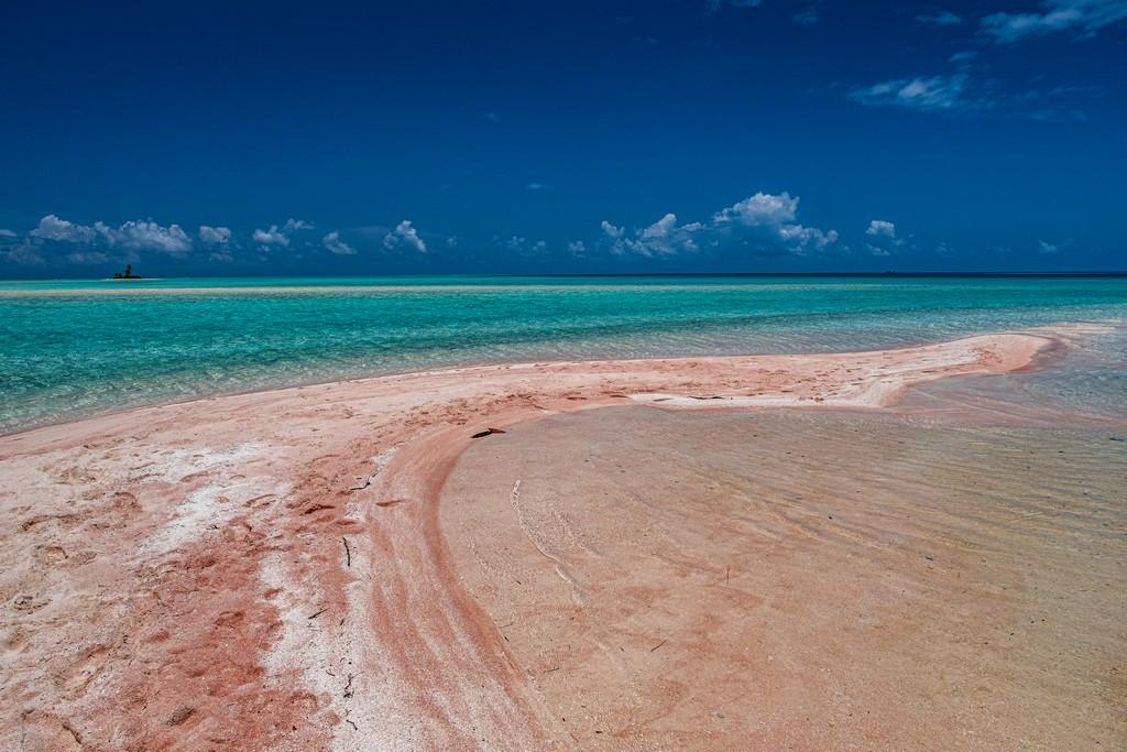 sabbia rosa e mare