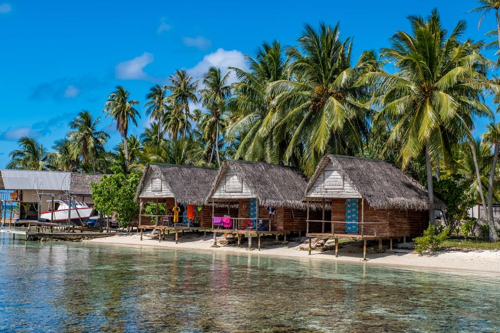 guida a Fakarava fai da te bungalow sulla spiaggia