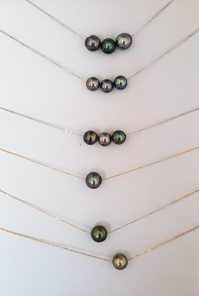 collane di perle nere di Tahiti