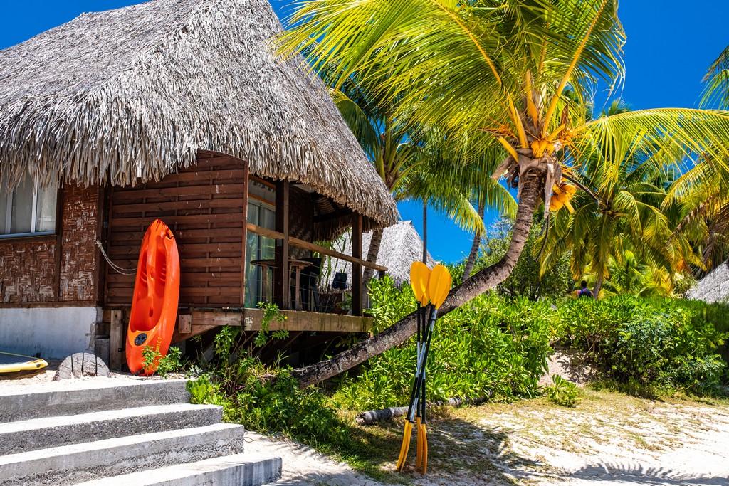 guida a Moorea bungalow sulla spiaggia