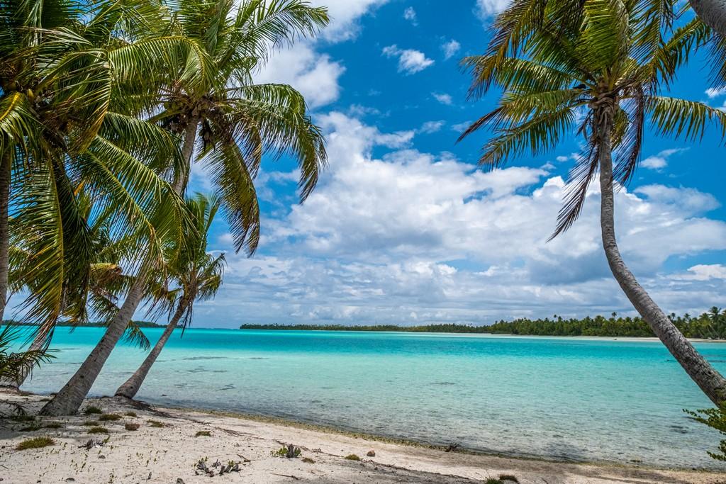 isole con palme sabbia e mare turchese