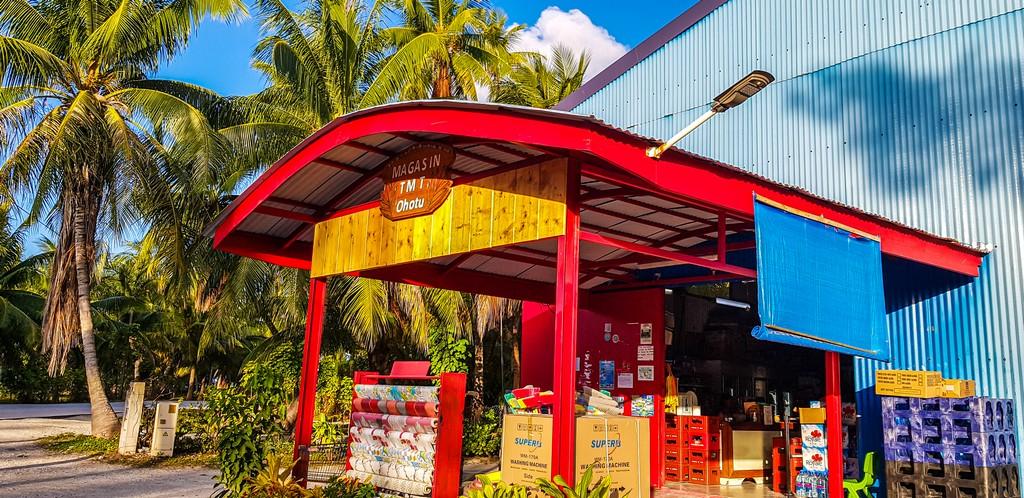 guida a Rangiroa, supermarket locale