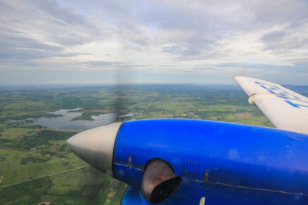 vista del motore di un turboelica