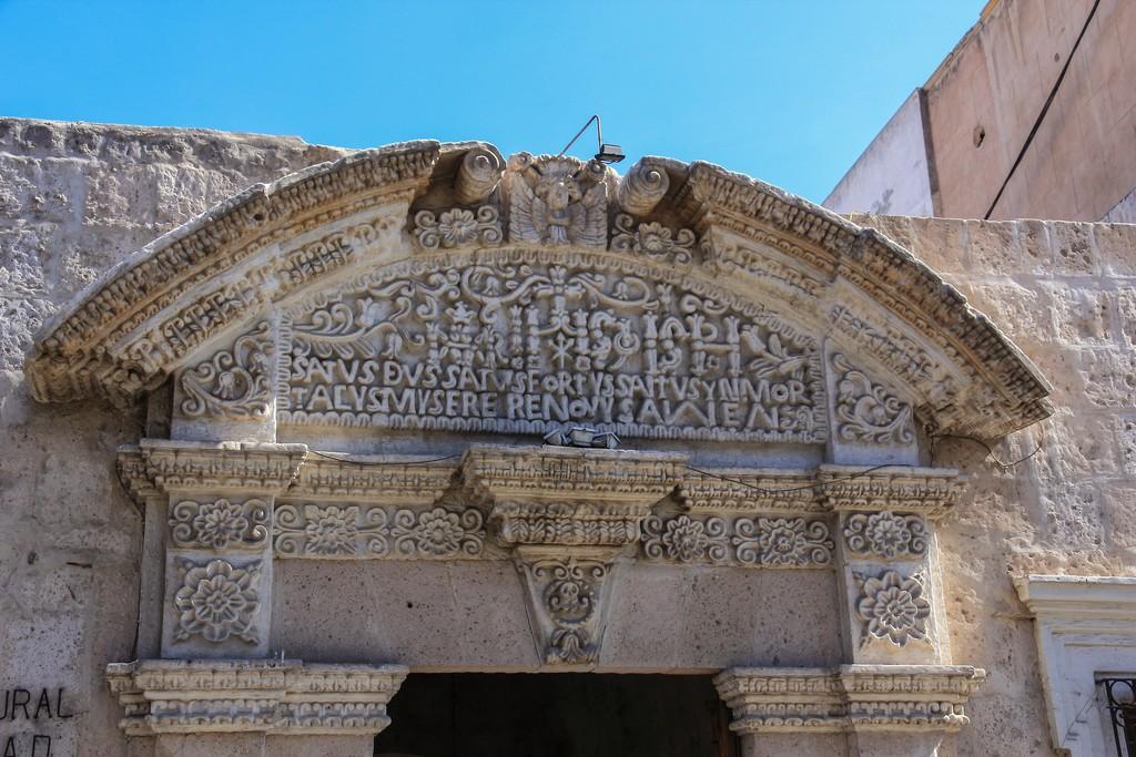 Guida ad Arequipa facciata scolpita