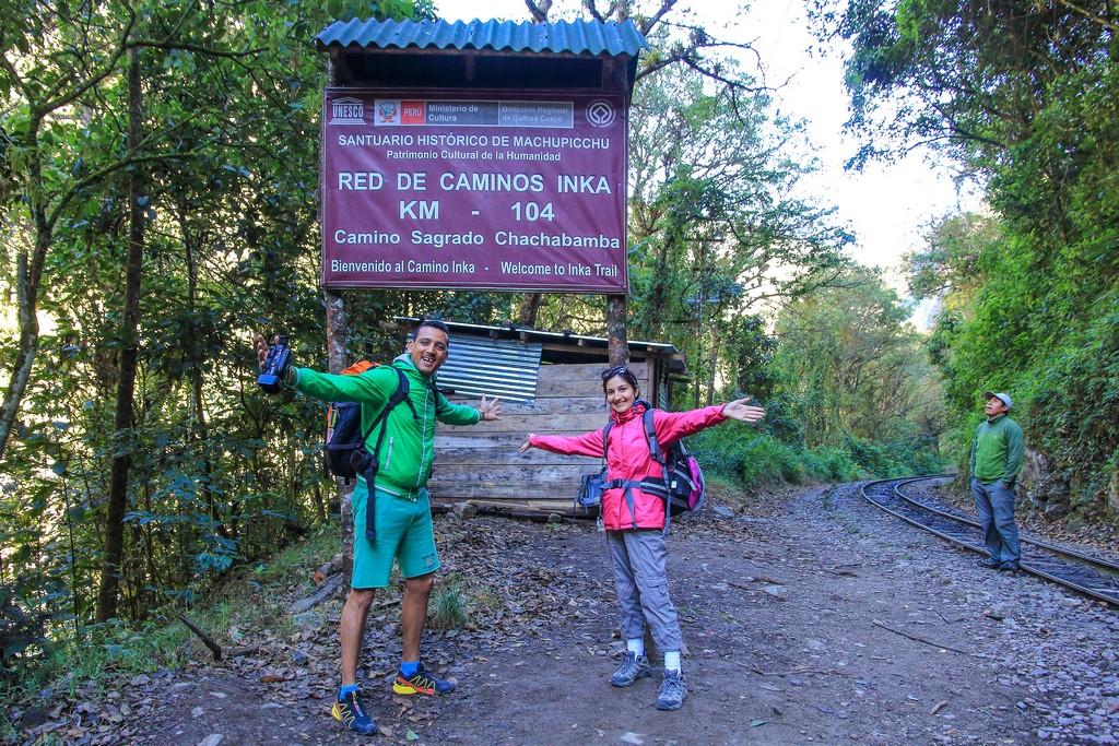 Guida al Camino Inca di 2 giorni stazione di partenza del camino inca con persone