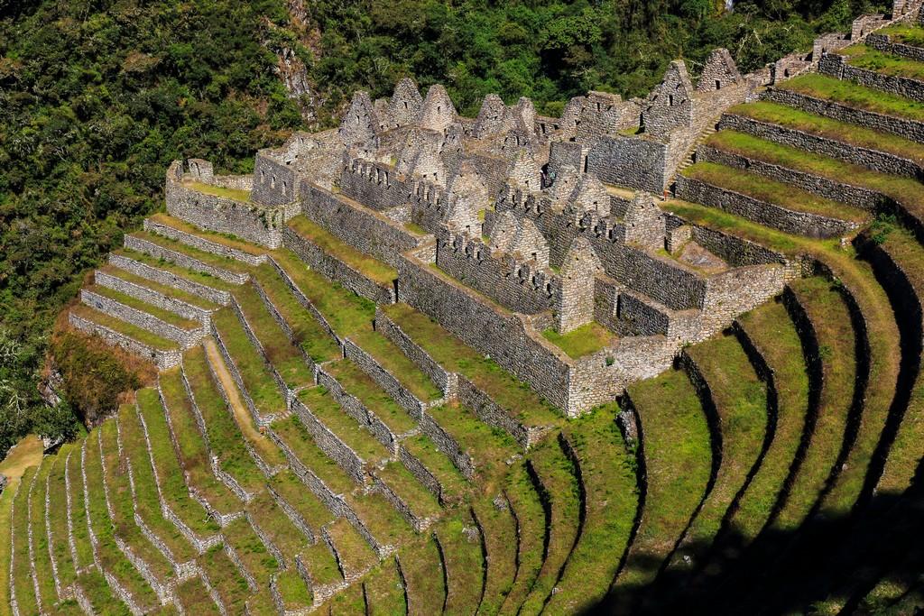 Le tipiche terrazze inca usate per la coltivazione
