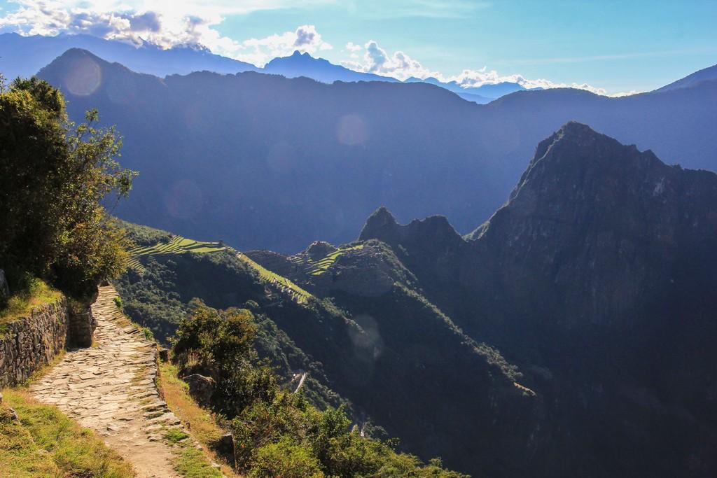 La vista di Machu Picchu dall'Inti Punku