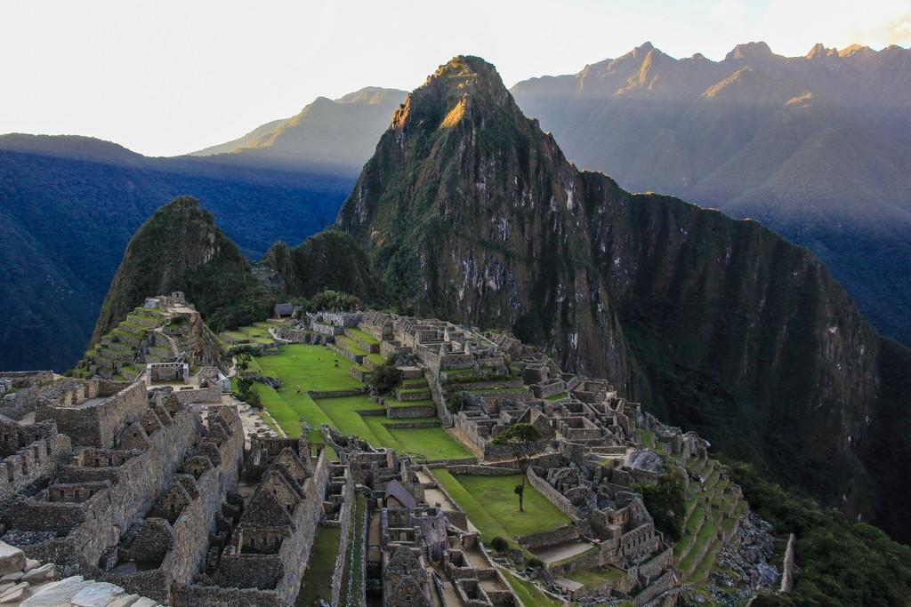 Guida al Camino Inca di 2 giorni vista su machu picchu al tramonto