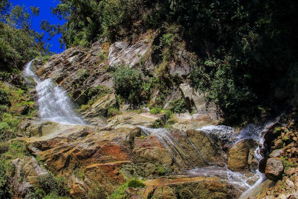 Cascata poco prima di Wiñay Wayna