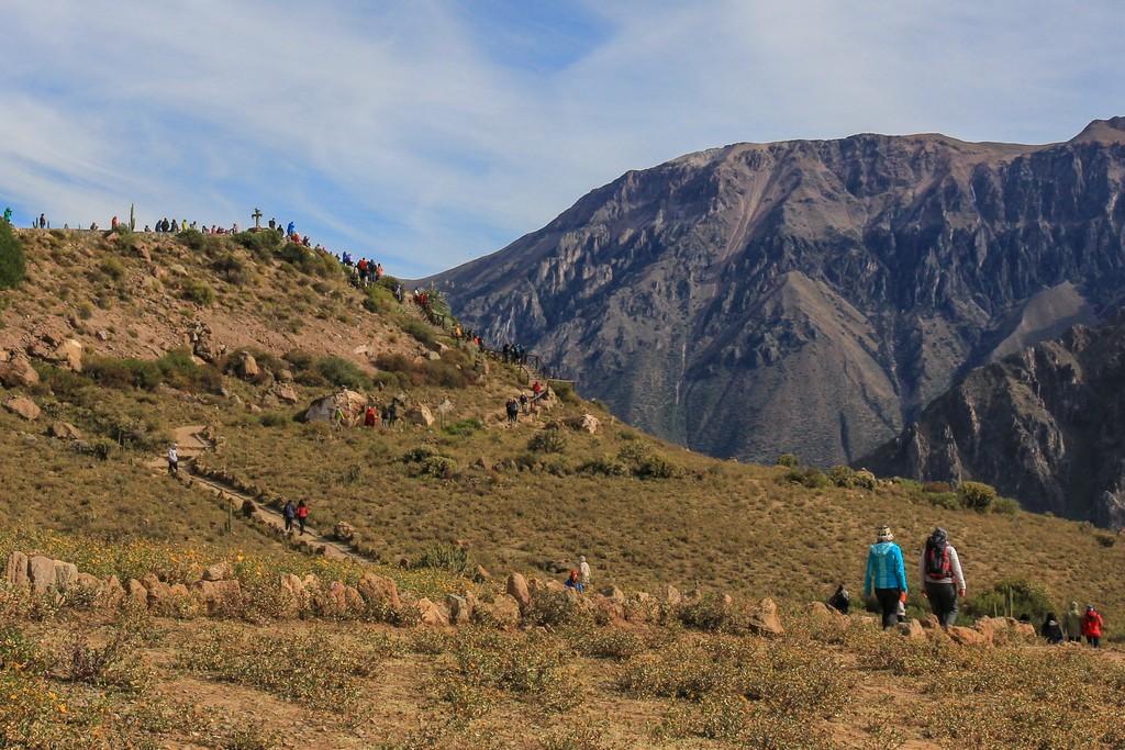 vista della Cruz del Condor sulla collina panoramica