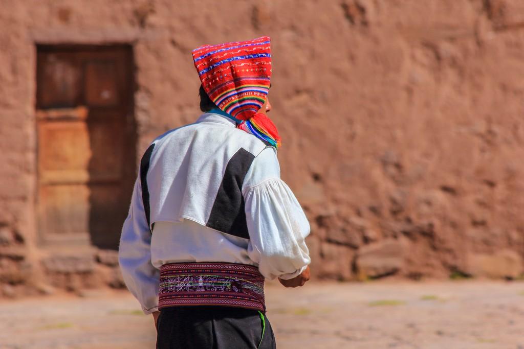 Il tipico berretto degli uomini di Taquile
