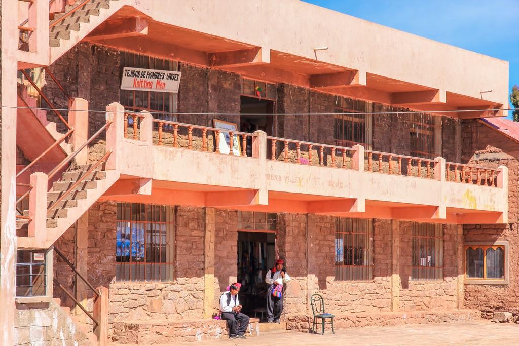 L'ingresso del Centro di Produzione Tessile di Taquile