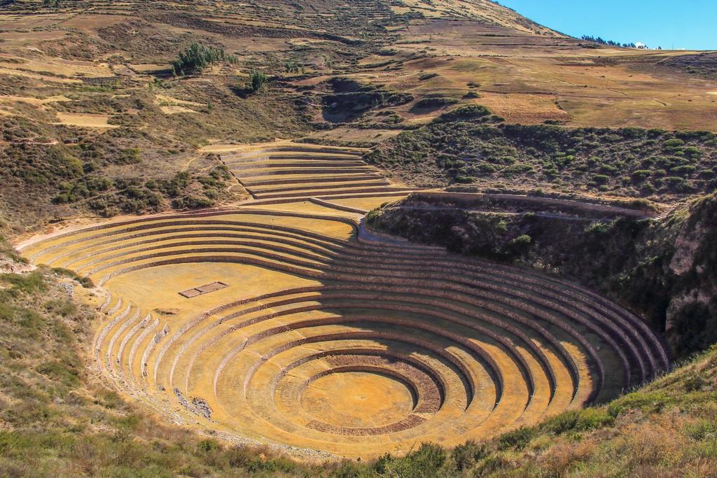 cosa vedere Valle Sacra terrazzamenti concentrici per coltivazioni