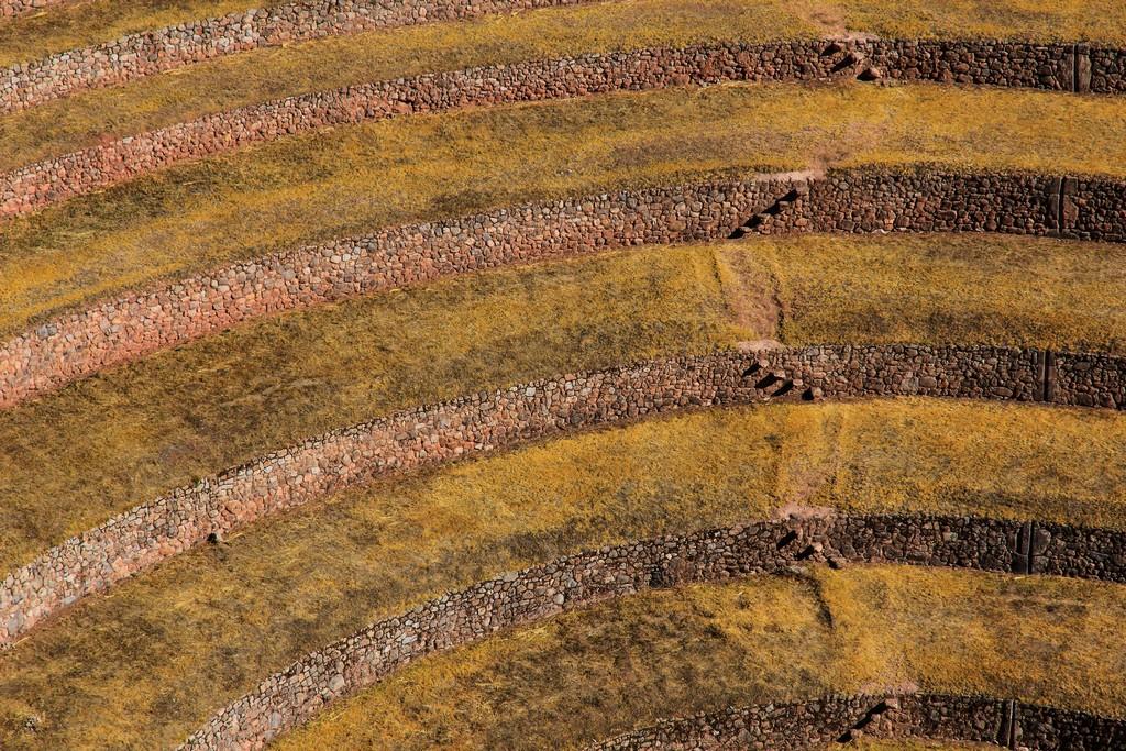 macro dei terrazzamenti concentrici